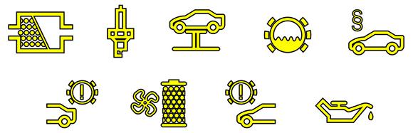 Simbolos del tablero bmw