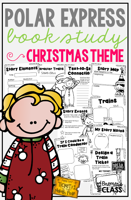 Polar Express book study companion activities for Kindergarten-Second Grade