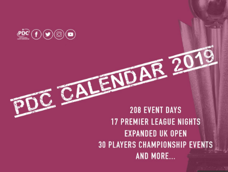 PDC, world, datrs, 2019, calendar, schedule, venues, locations, dates, championship.