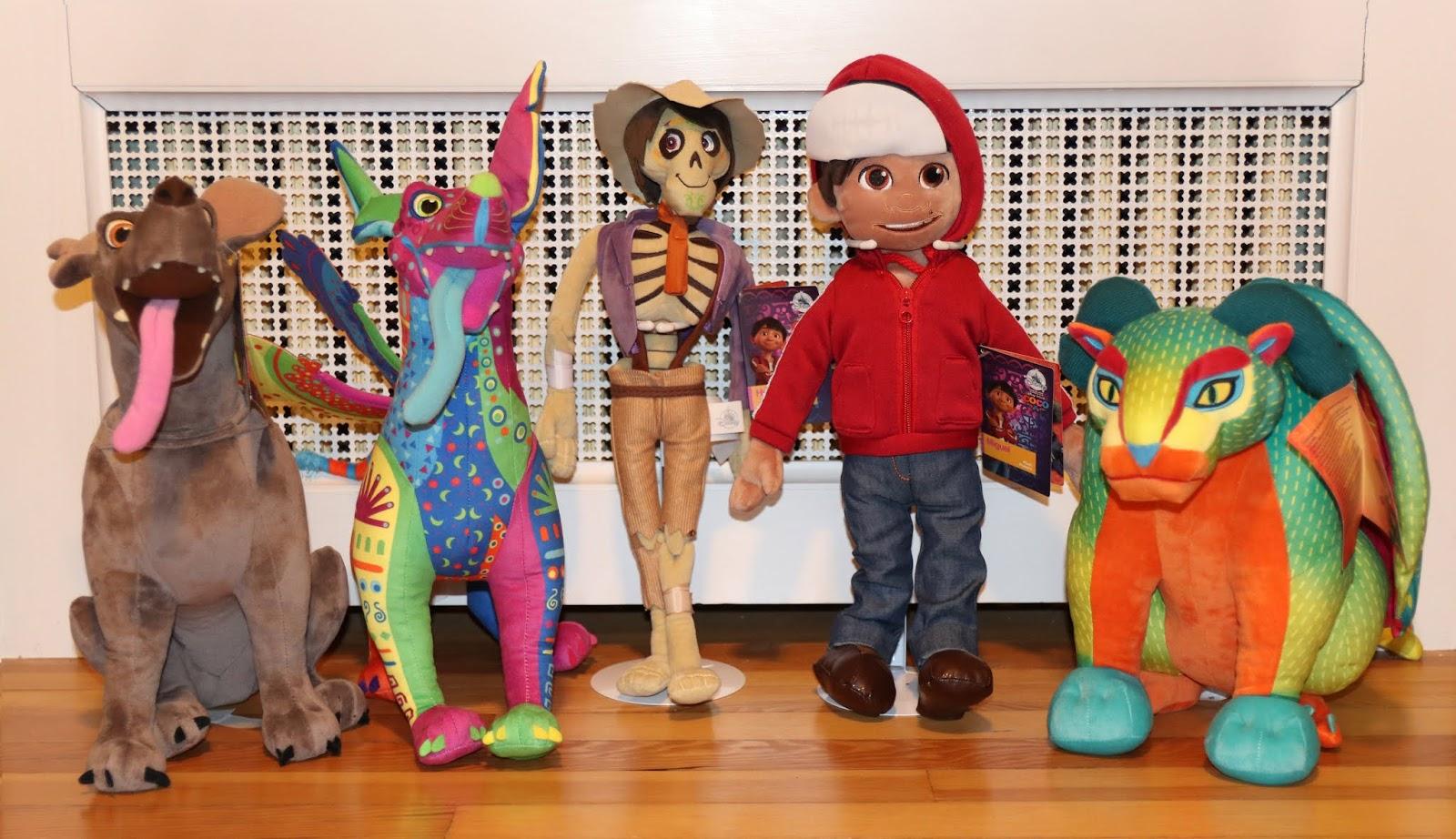 disney store coco plush toys