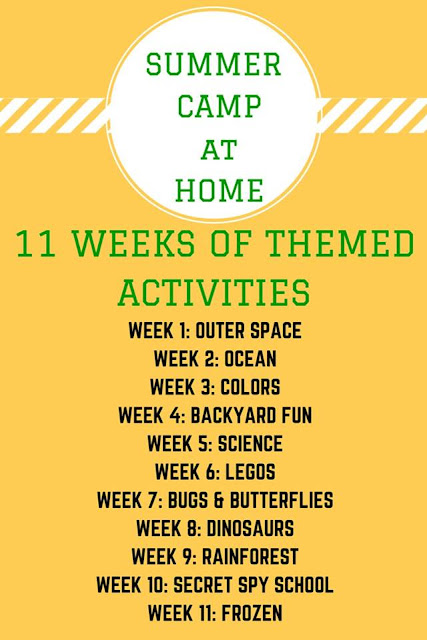 Summer camp at home themes