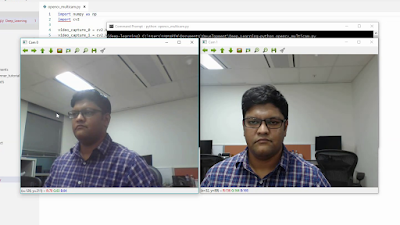 OpenCV accessing 2 cameras at once