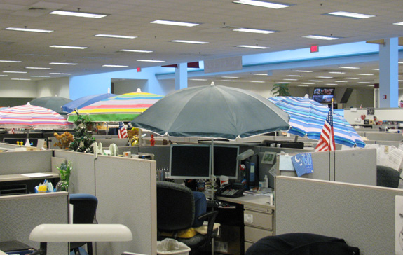 office cubicle roof