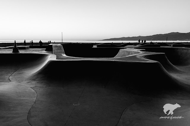 Sunset at the skatepark.