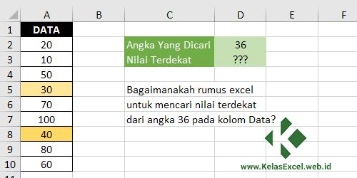 Cara Mencari Nilai Terdekat Pada Excel