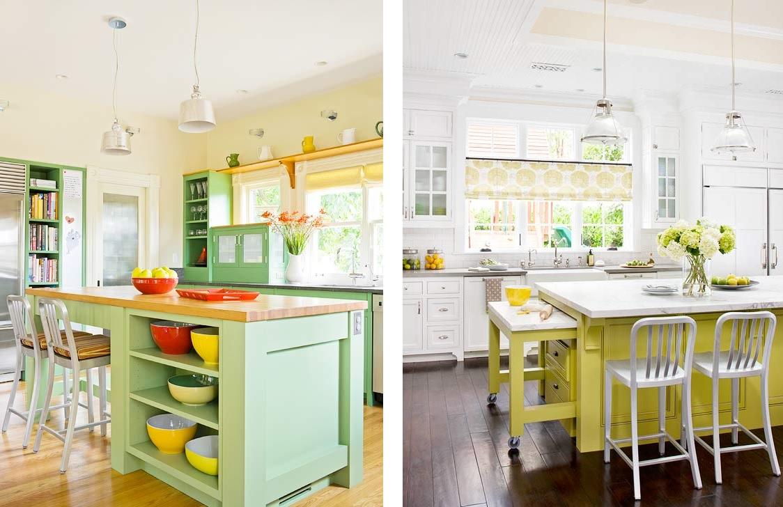 Ilhas De Cozinha Coloridas Decora O E Ideias