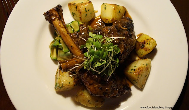 Braised Lamb shanks with herbed red wine and shallot sauce @ A Romantic Dining Experience @ Grasshopper | Bangalore