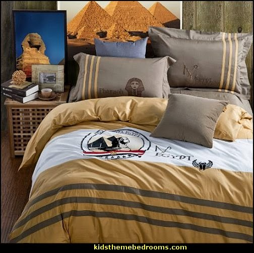 Egypt theme bedding - Eyptian theme bedroom decorating ideas - Egyptian themed bedding