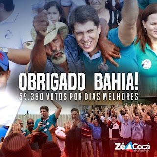 Zé Cocá 59.380 votos na Bahia