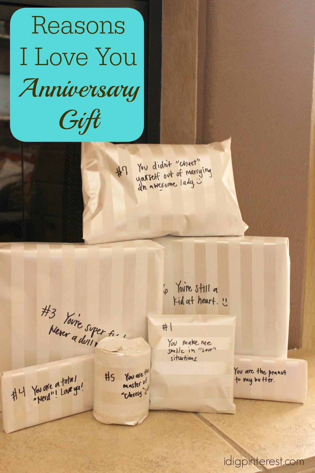 I Dig Pinterest: Reasons I Love You Wedding Anniversary ...