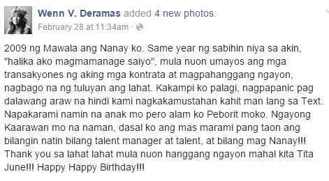 Direk Wenn Deramas' last Facebook status before he died. MUST READ!