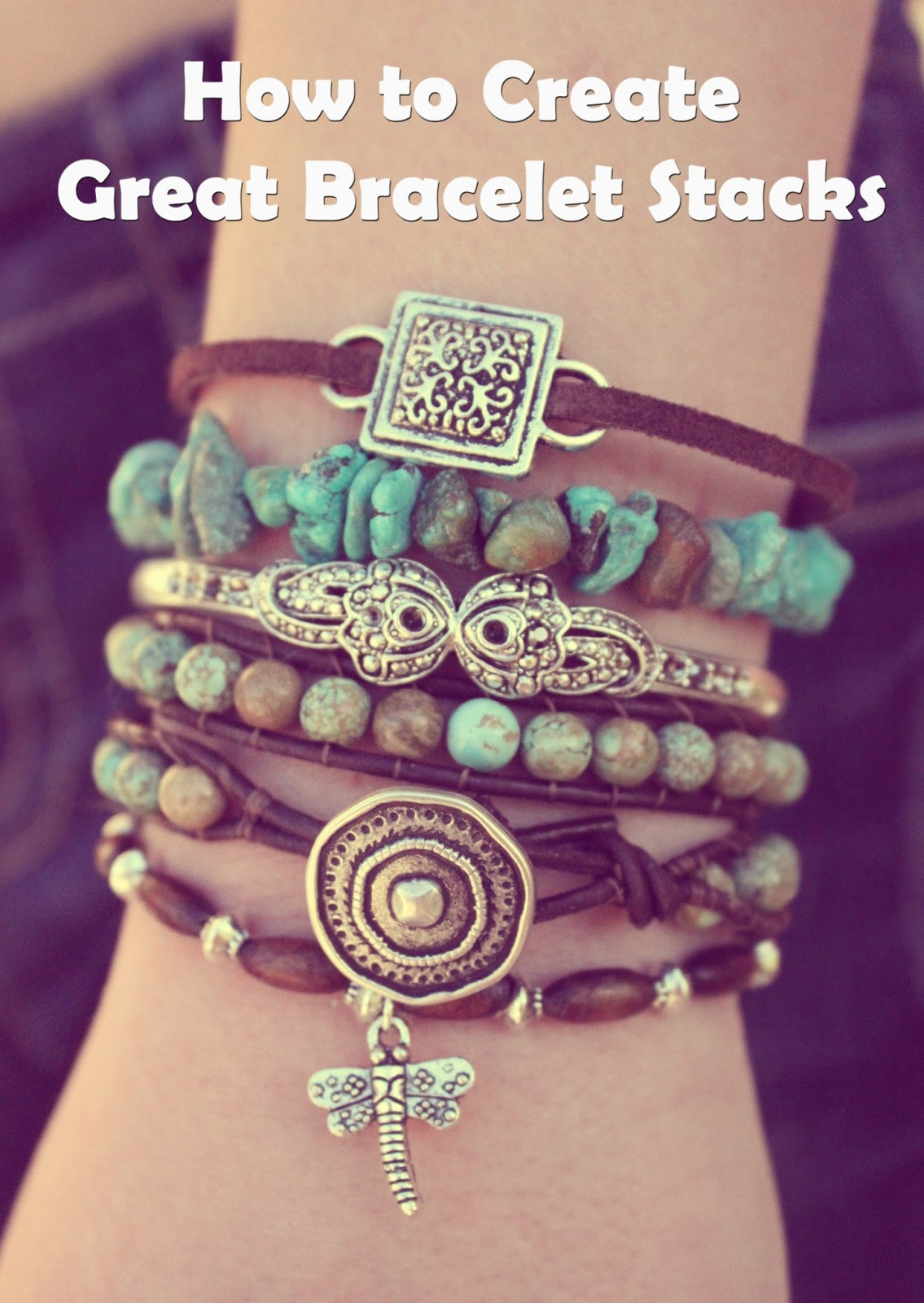 9af4d2eee4a Turquoise Bohemian Boho Bracelet Bracelets Stack Stacked Layered Arm Party  Candy brown green blue