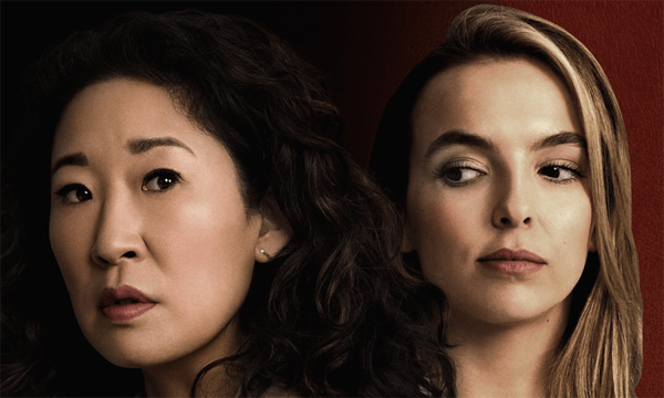 promotional image of Sandra Oh and Jodie Comer from BBC America's 'Killing Eve'
