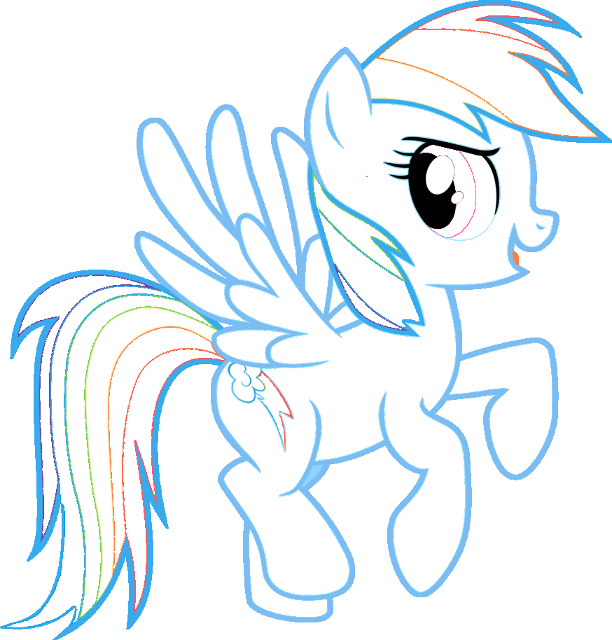 learn free worksheets for kid rainbow dash