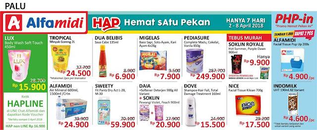 Katalog Promo ALFAMIDI Hemat Satu Pekan Periode 02 - 08 April 2018