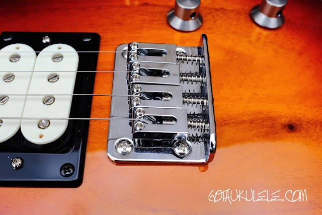 Risa LP Tenor Electric Ukulele bridge