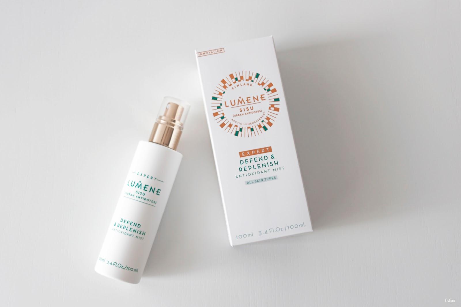 lavlilacs LUMENE Sisu Urban Antidotes Defend & Replenish Antioxidant Mist Review