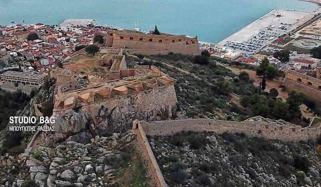 Το Παλαμήδι τ΄Αναπλίου από ψηλά (βίντεο drone)