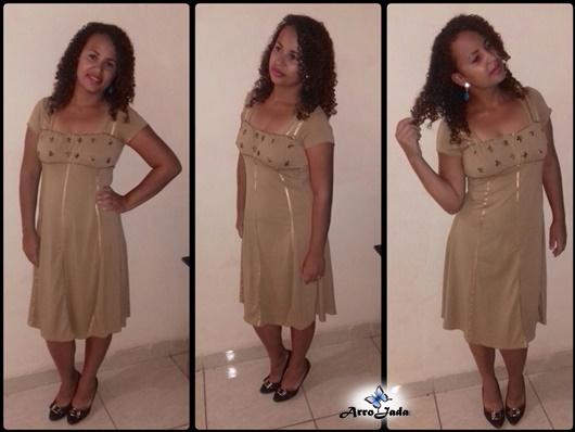 Vestido marrom joyaly