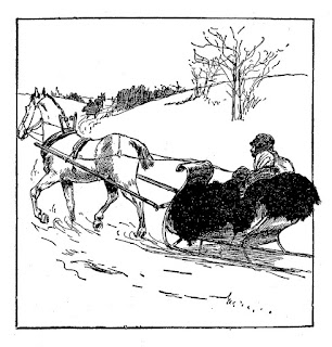 winter snow horse sleigh country digital download
