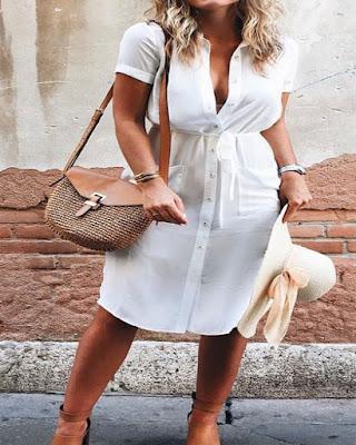 vestido para la playa blanco basico