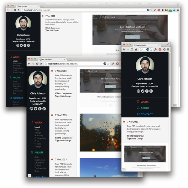 Building the Responsive Timeline Portfolio Page