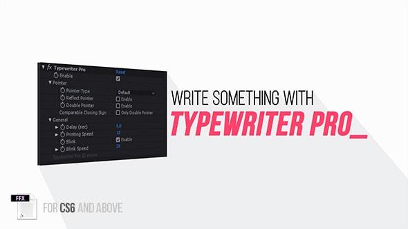 سكربت افتر افكت للكتابة بطريقة الآلة الكاتبة