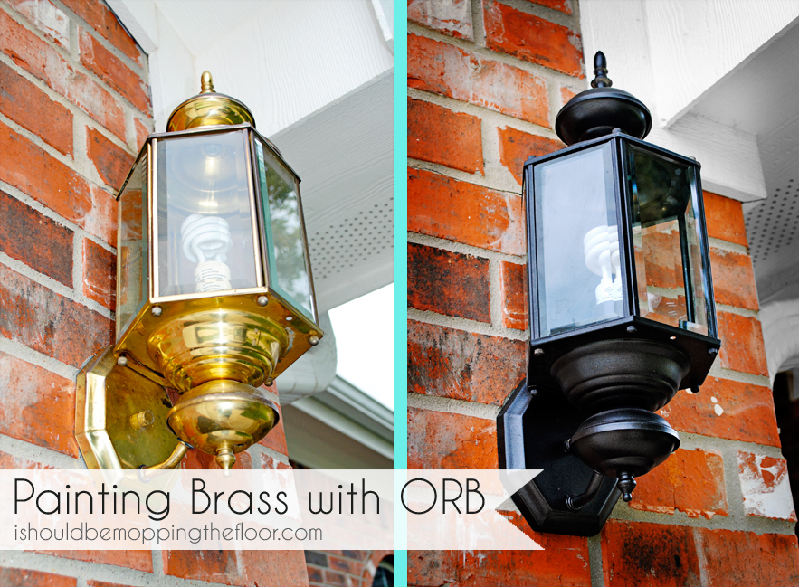 I should be mopping the floor painting over brass with oil rubbed weve been wanting to replace our outdoor brass light fixtures for quite some time were talking yeeeeears here theres three of these on the front of workwithnaturefo