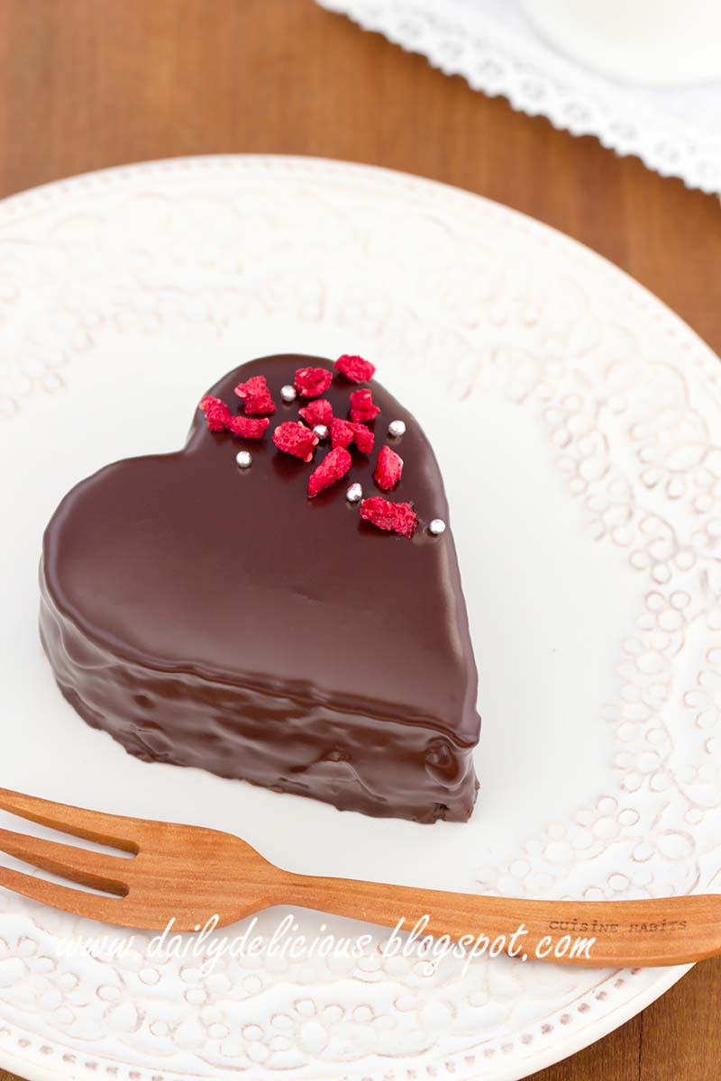 Put Chocolate Over A Sponge Cake
