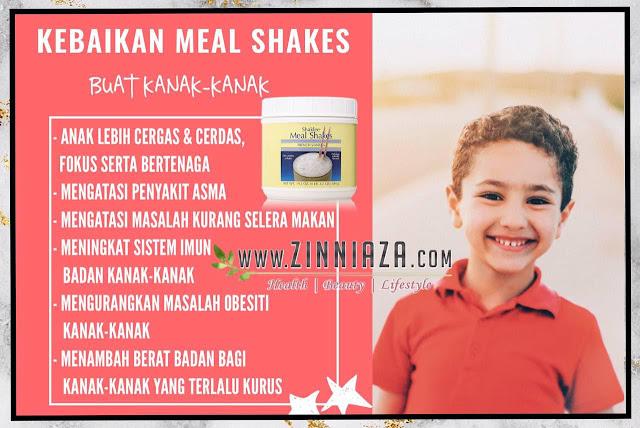 kebaikan meal shakes buat kanak-kanak