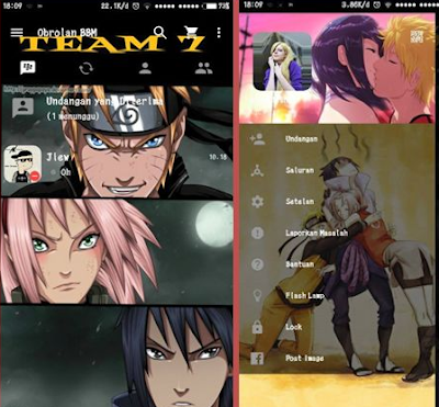 Download BBM Mod Team 7 Naruto Themes V.2.12.0.9 Apk