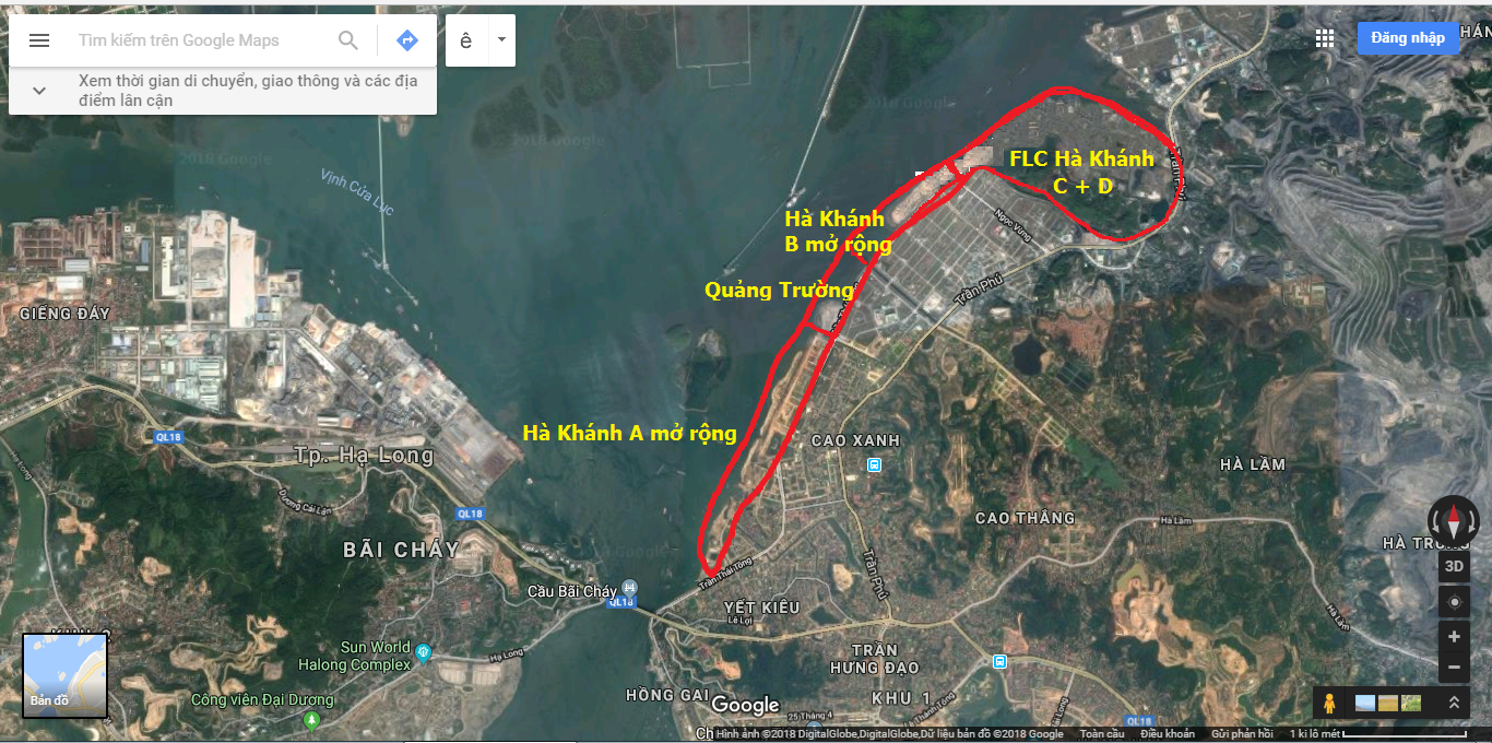 Vị trí dự án Flc Tropical  City Hạ Long