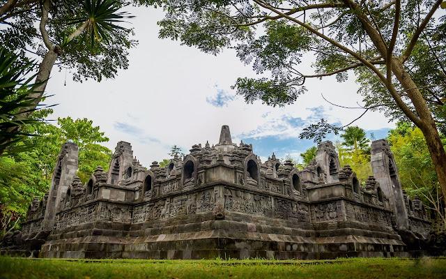 Seeing the replica of the Borobudur Temple in Gianyar Nusa Bali