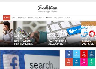 Template gratis Fresh View untuk blogger