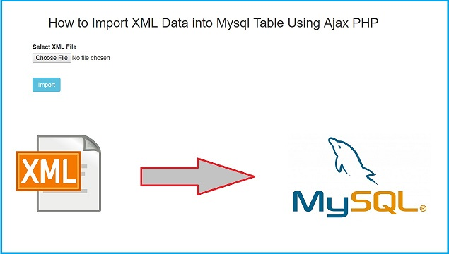 How to Insert XML Data into Mysql Table Using PHP with Ajax