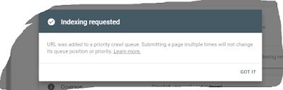 Cara Index Url Situs pada Web Master Tool