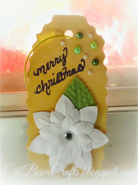 Handmade Christmas gift tag by CdeBaca Crafts.