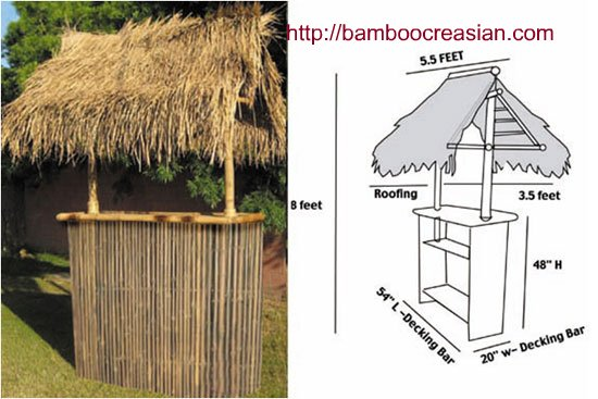 Fantastic Quality Bamboo and Asian Thatch: build tiki hut/bar/palapa's roof  RT16