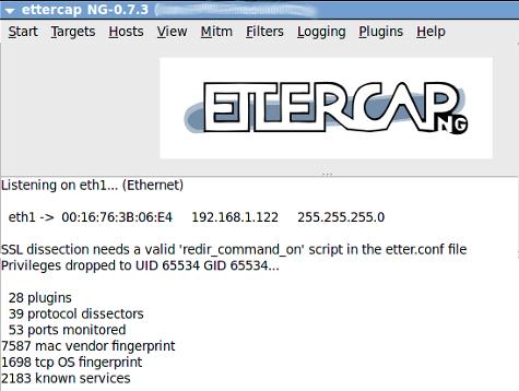 ETTERCAP XP TÉLÉCHARGER WINDOWS