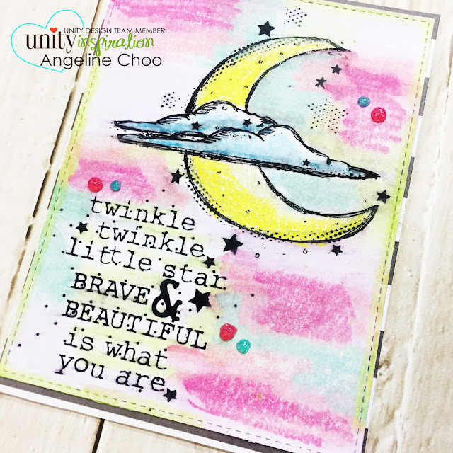 ScrappyScrappy: New Year Blog Hop with Unity Stamp - Twinkle #scrappyscrappy #unitystampco #kotm #card #cardmaking #americancrafts #creativedevotion #gelcrayons #pastelcrayon #watercolor #tonicstudios #nuvoglitterdrop #twinkletwinklelittlestar #papercraft #stamp #stamping