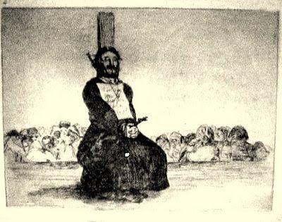 Goya ajusticiado a garrote vil