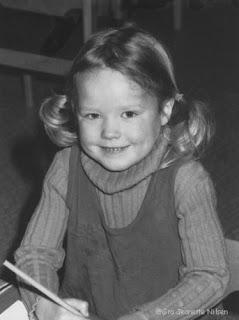 Gro Jeanette Nilsen som barnehagebarn.