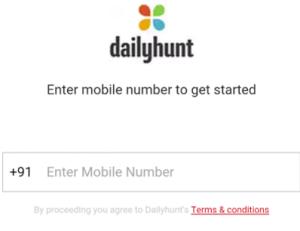 dailyhunt app trick