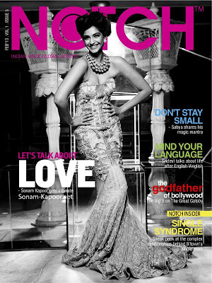 Sizzling actress Sonam Kapoor on the Cover of NOTCH magazine