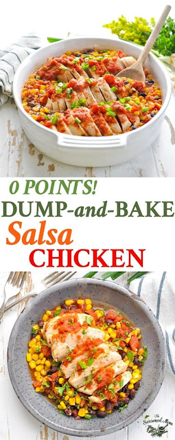 A Healthy Dump-and-Bake Salsa Chicken