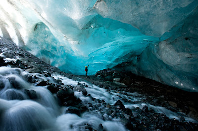 Caverna de gelo do Glaciar Mendenhall