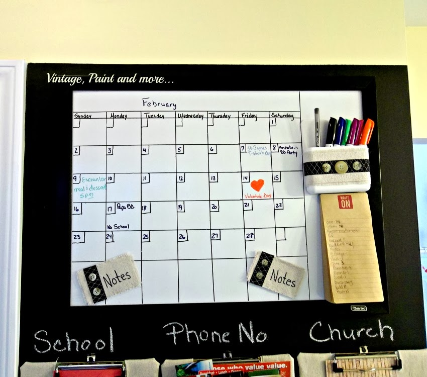 close up of dry erase calendar