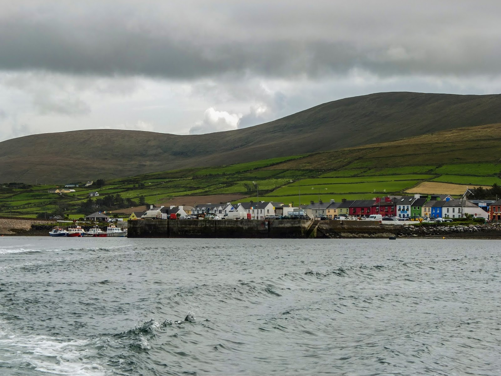 Leaving the harbour and looking back at Portmagee, Co.Kerry from the water.