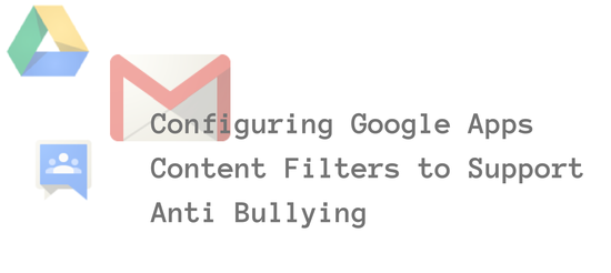 Configuring Google Apps Content Filters to Support Anti Bullying