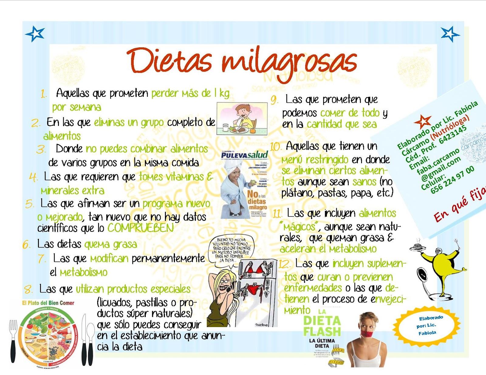 Dietas para bajar de peso por nutriologos